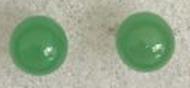 8mm Jade Bead Stud Earrings with Silver